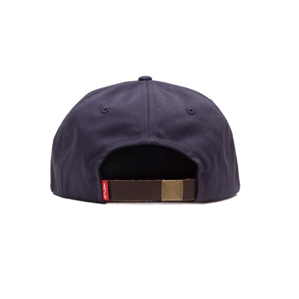 【ACAPULCO GOLD/アカプルコ ゴールド】NUTTY TWILL 6 PANEL CAP  ストラップバックキャップ / NAVY