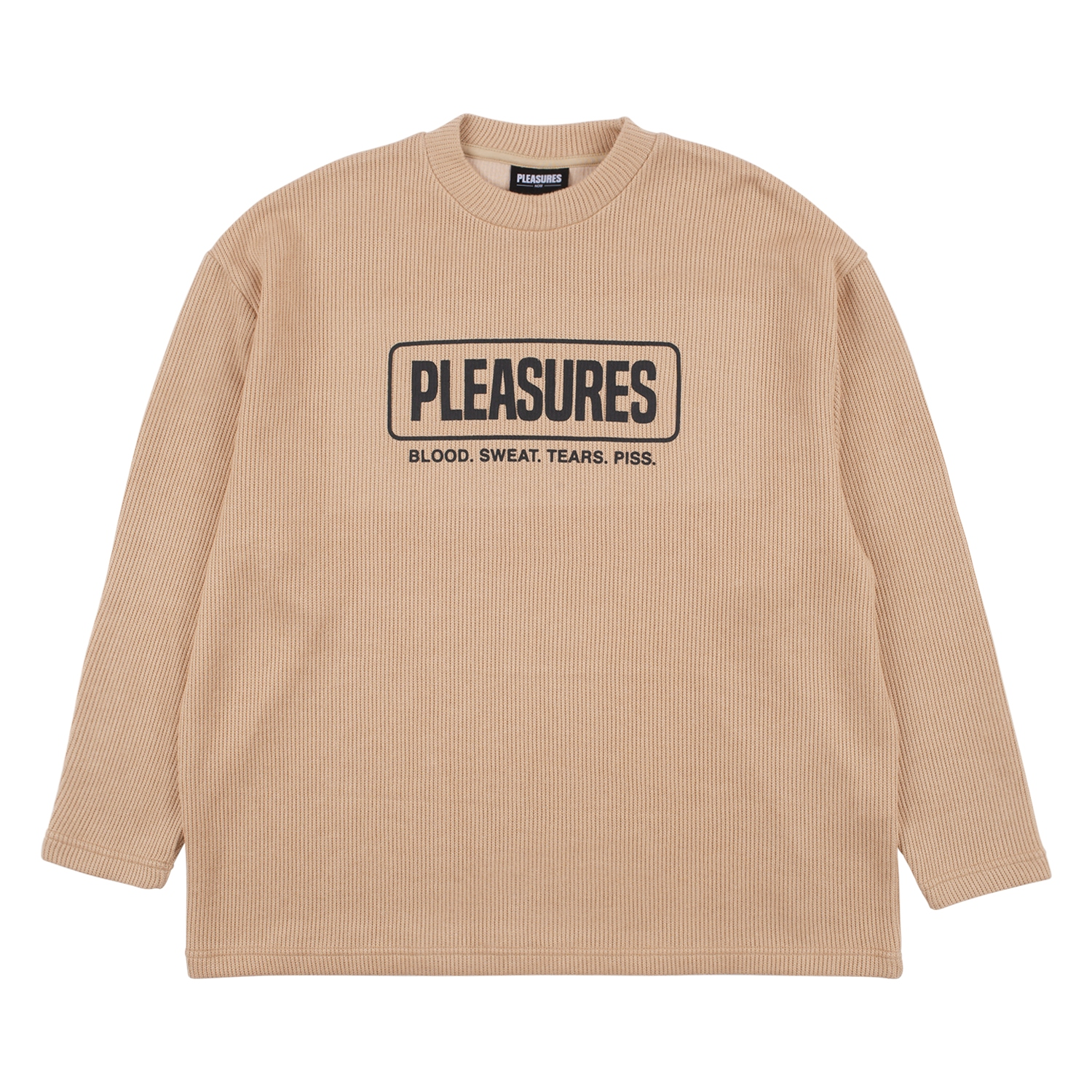 【PLEASURES/プレジャーズ】FRESNO KNIT LONG SLEEVE セーター / TAN