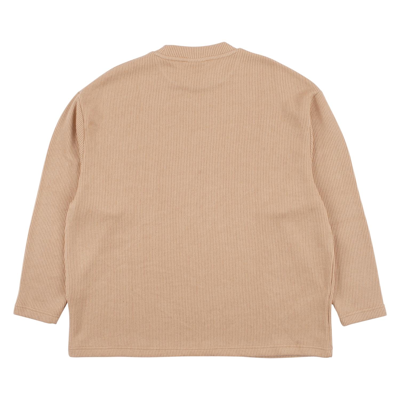 【PLEASURES/プレジャーズ】FRESNO KNIT LONG SLEEVE セーター / TAN