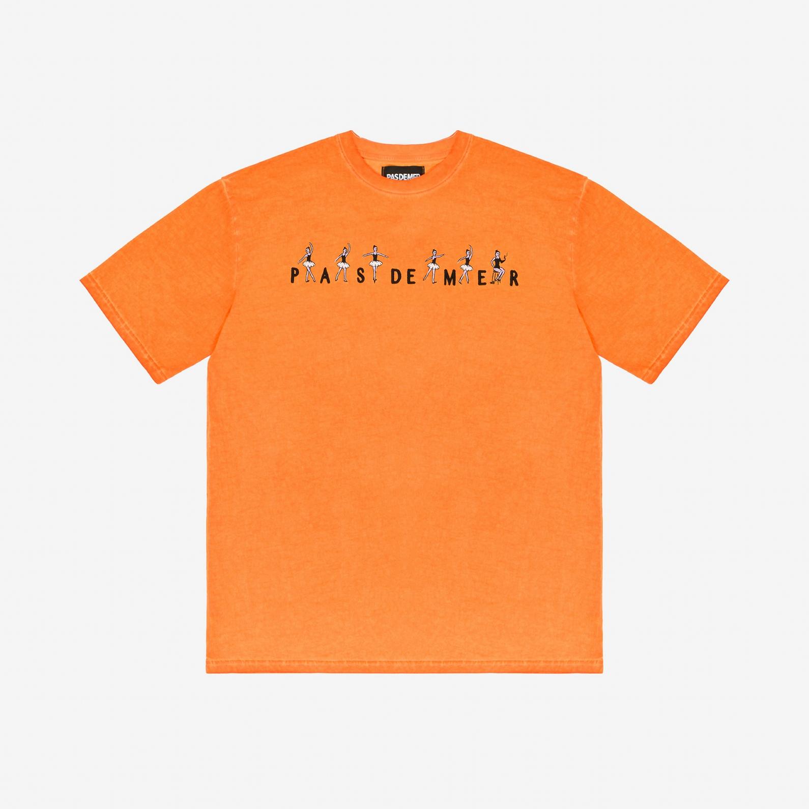 【PAS DE MER/パドゥメ】BALLET T-SHIRT Tシャツ / ORANGE
