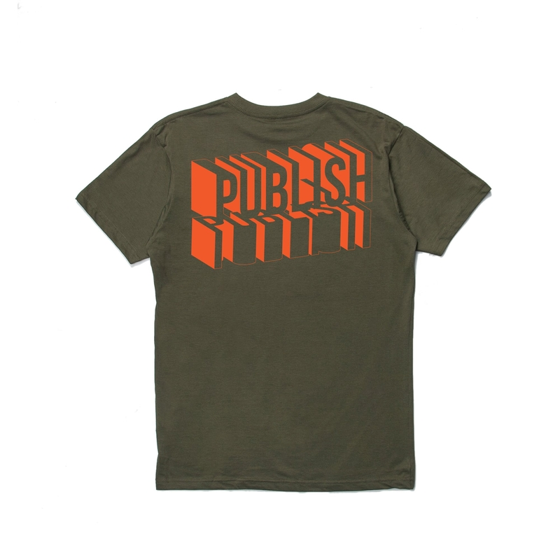 【PUBLISH BRAND/パブリッシュブランド】BLOCK Tシャツ / OLIVE