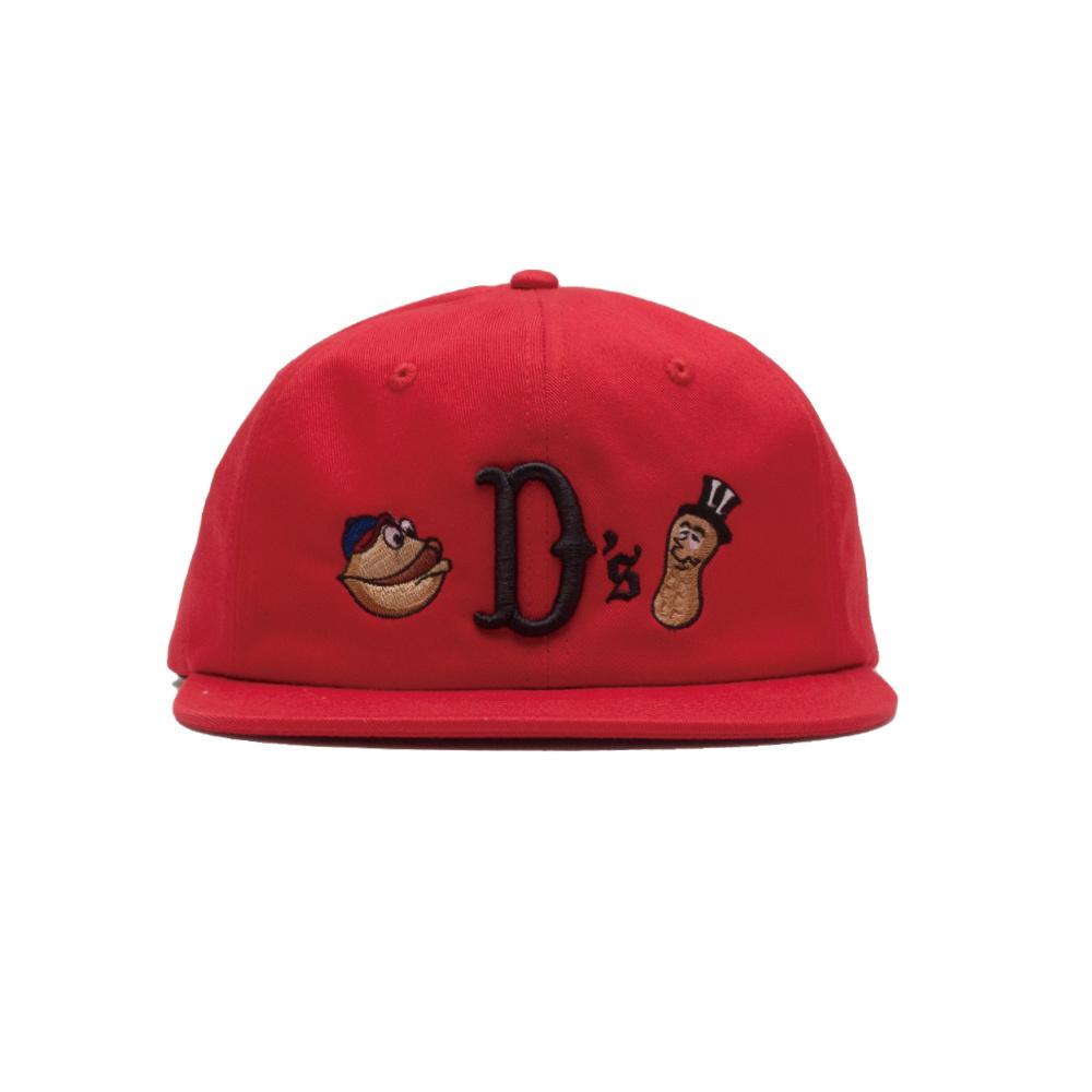 【ACAPULCO GOLD/アカプルコ ゴールド】NUTTY TWILL 6 PANEL CAP  ストラップバックキャップ / RED
