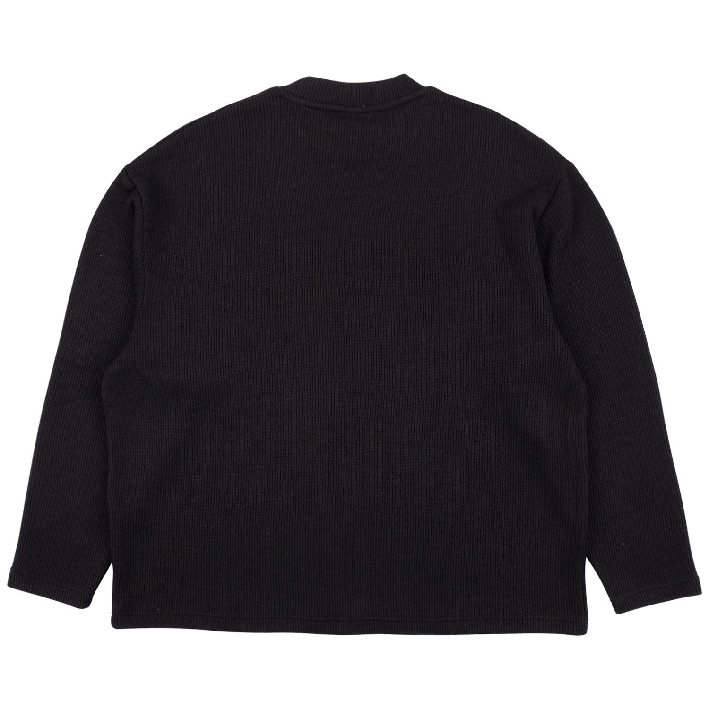 【PLEASURES/プレジャーズ】FRESNO KNIT LONG SLEEVE セーター / BLACK