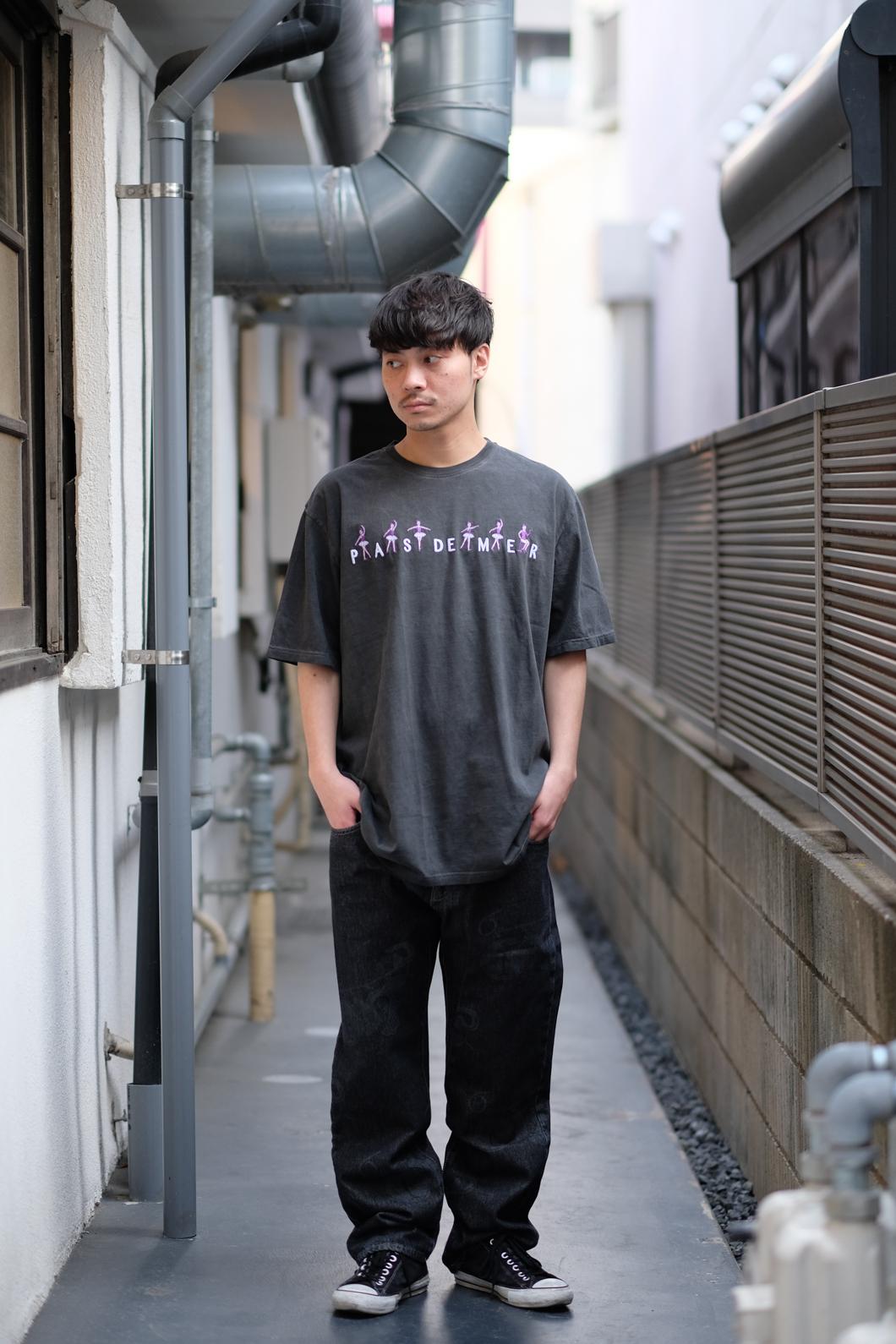 【PAS DE MER/パドゥメ】BALLET T-SHIRT Tシャツ / BLACK