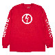 【PLEASURES/プレジャーズ×MARILYN MANSON/マリリン・マンソン】ANTICHRIST LONG SLEEVE ロングTシャツ / RED