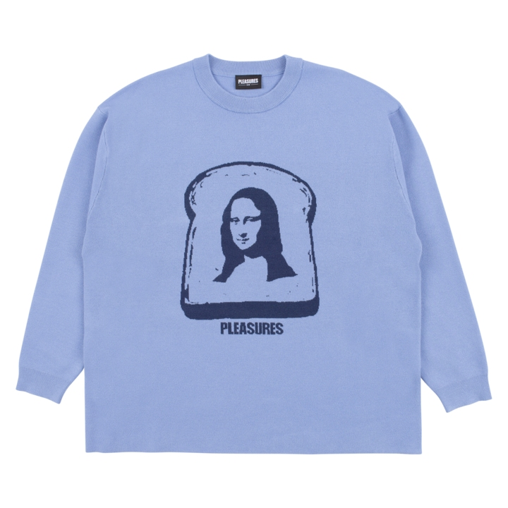 【PLEASURES/プレジャーズ】MONA KNIT SWEATER セーター / BLUE