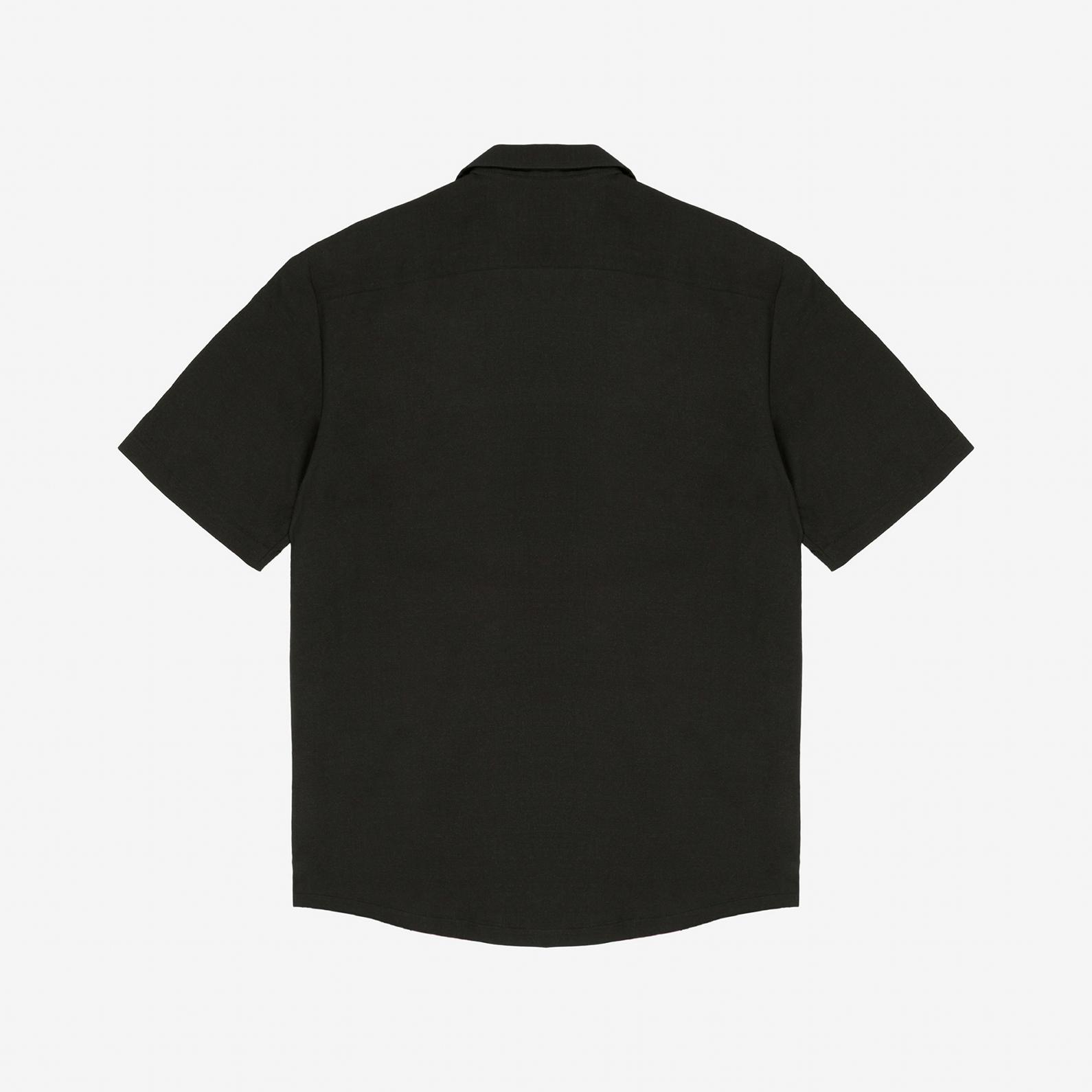 【PAS DE MER/パドゥメ】BALLET SHIRT 半袖シャツ / BLACK