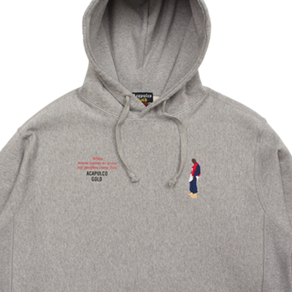 【ACAPULCO GOLD/アカプルコ ゴールド】BETTER REALIZE PULLOVER HOODIE パーカー / HEATHER GREY
