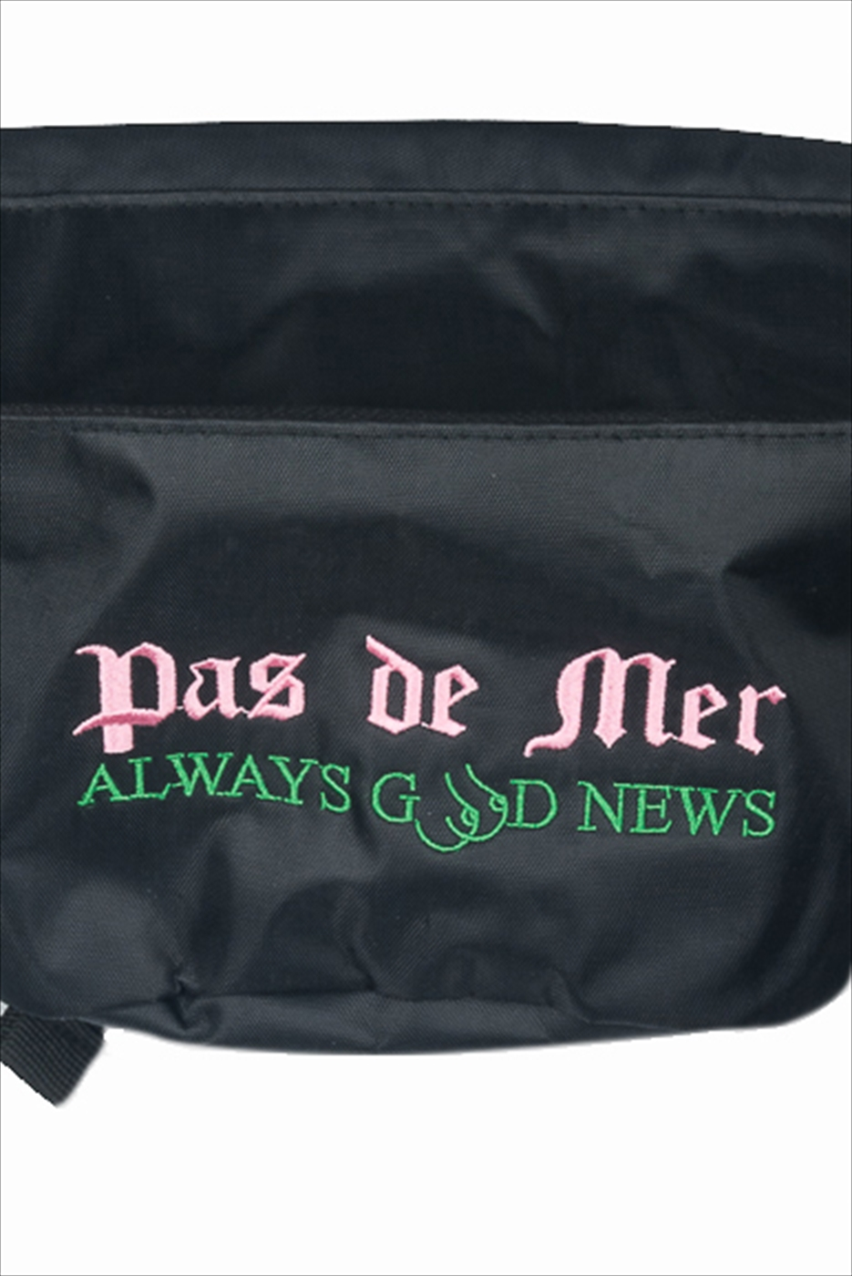 【PAS DE MER/パドゥメ】GOOD NEWS POUCH ポーチ / BLACK