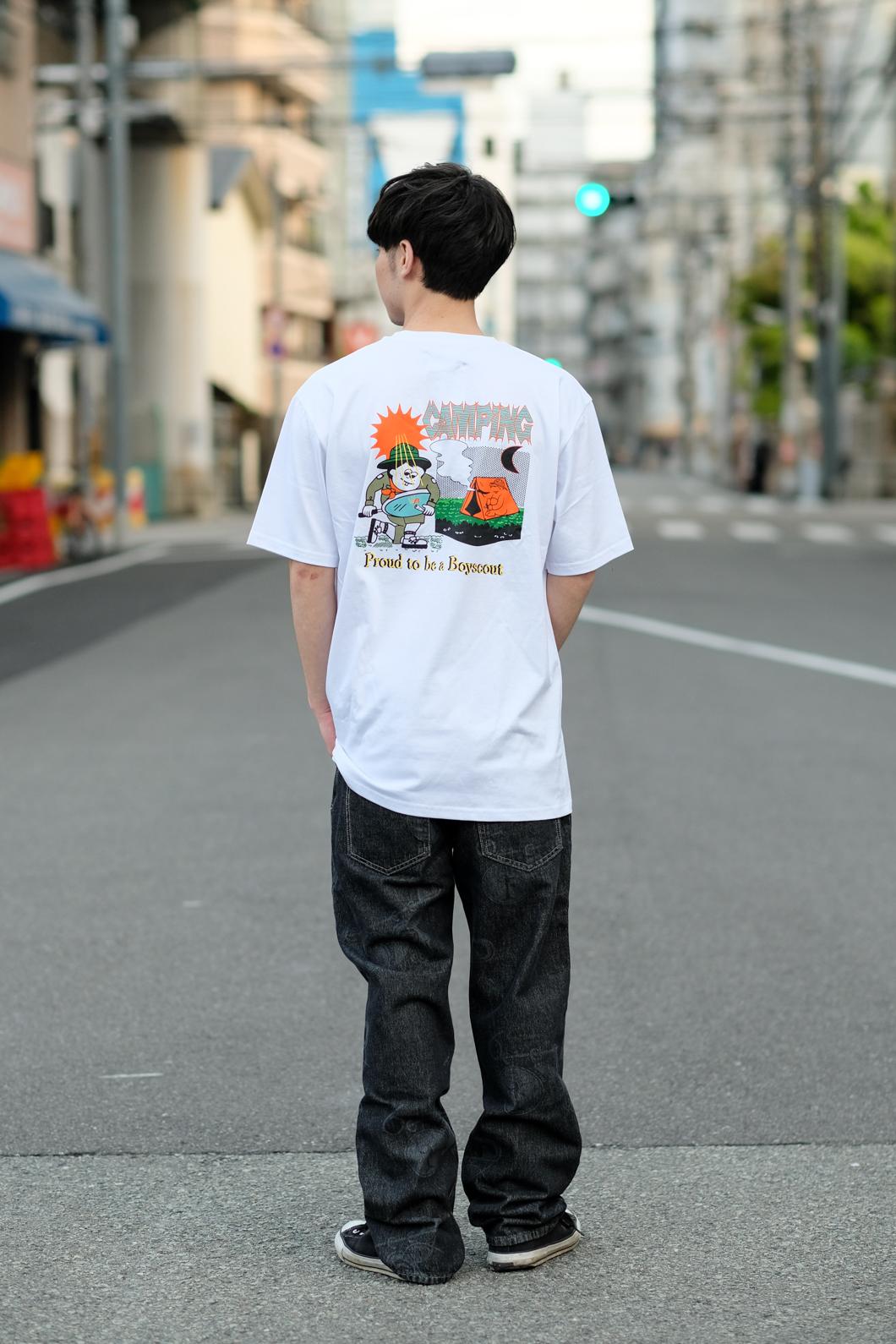 【PAS DE MER/パドゥメ】CAMPING T-SHIRT Tシャツ / WHITE
