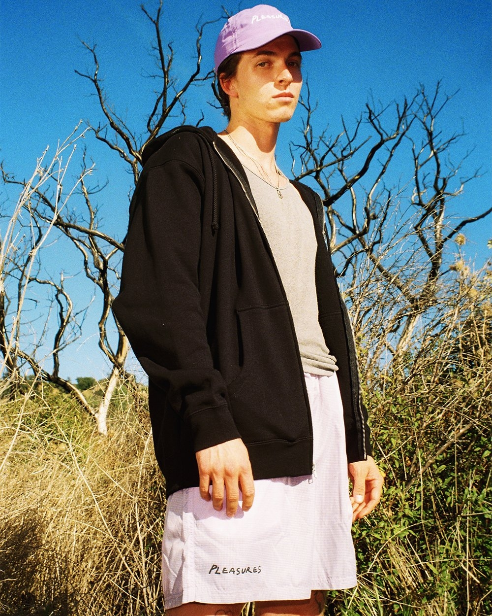 【PLEASURES/プレジャーズ】HUMP NYLON SPORT CAP キャップ / LAVENDER