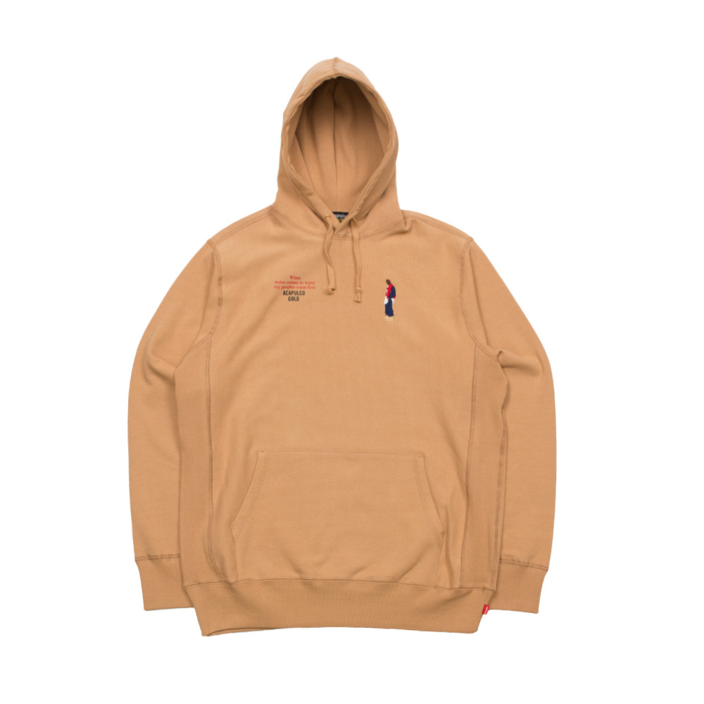 【ACAPULCO GOLD/アカプルコ ゴールド】BETTER REALIZE PULLOVER HOODIE パーカー / BEIGE