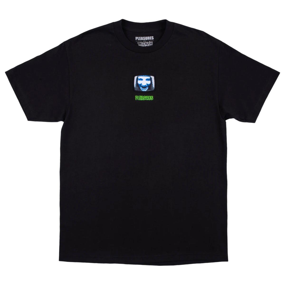 【PLEASURES/プレジャーズ×MARILYN MANSON/マリリン・マンソン】TV T-SHIRT Tシャツ / BLACK