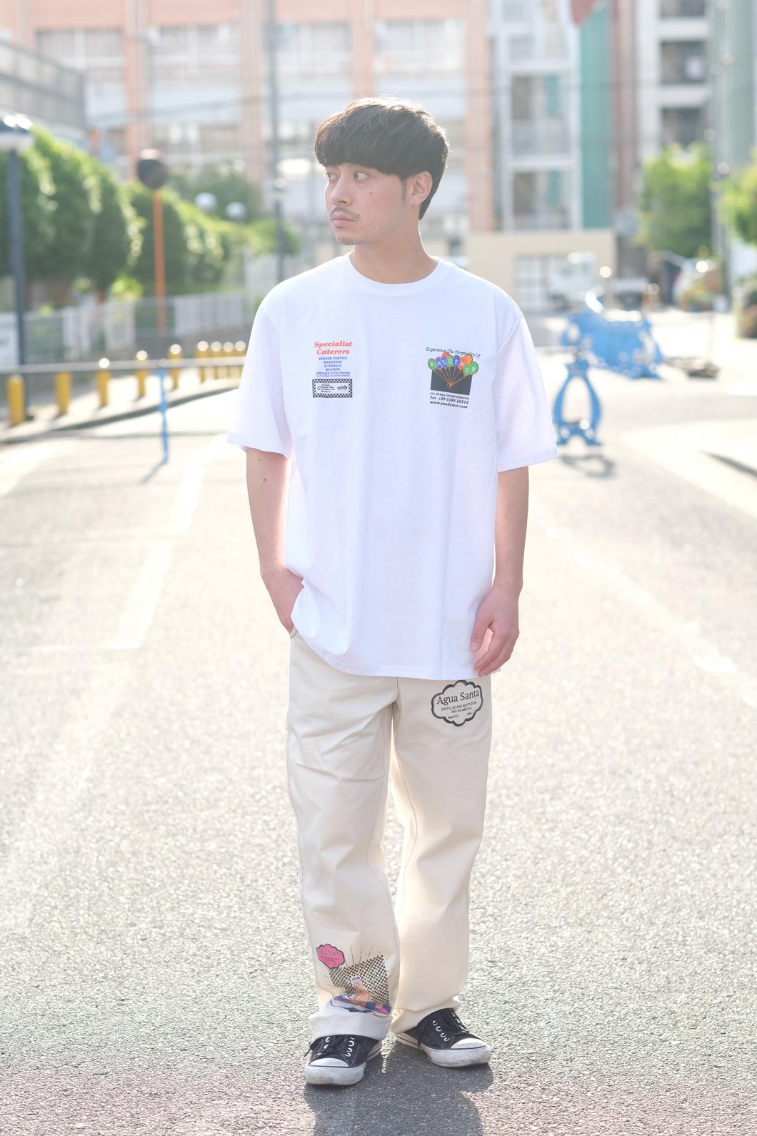 【PAS DE MER/パドゥメ】CATERING T-SHIRT Tシャツ / WHITE