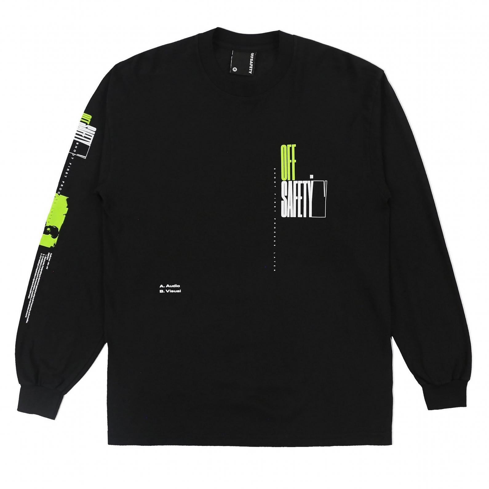 【OFF SAFETY/オフセーフティー】SKY'S THE LIMIT LS TEE 長袖Tシャツ / BLACK