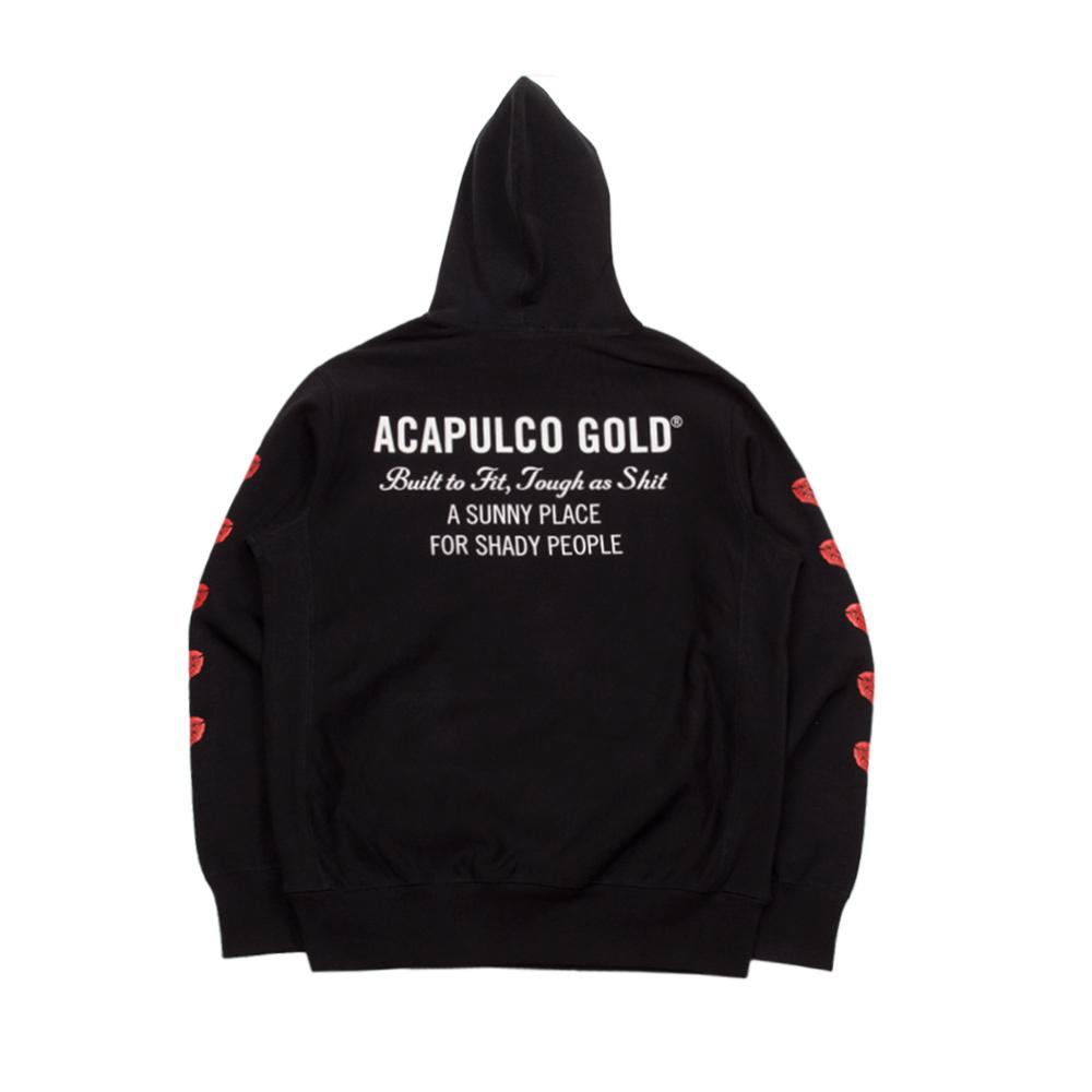 【ACAPULCO GOLD/アカプルコ ゴールド】NO EVIL PULLOVER HOODIE パーカー / BLACK