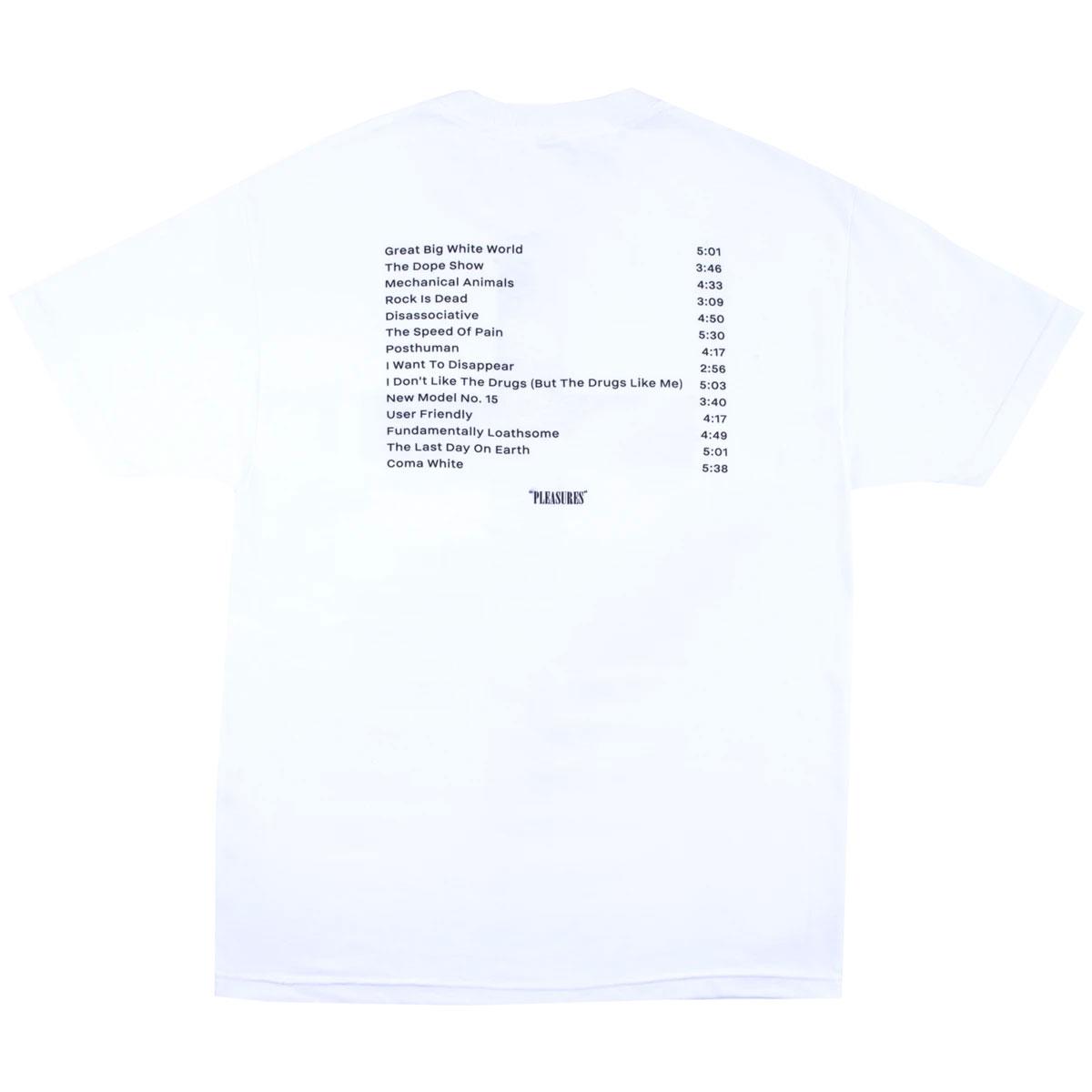 【PLEASURES/プレジャーズ×MARILYN MANSON/マリリン・マンソン】SMELLS T-SHIRT Tシャツ / WHITE