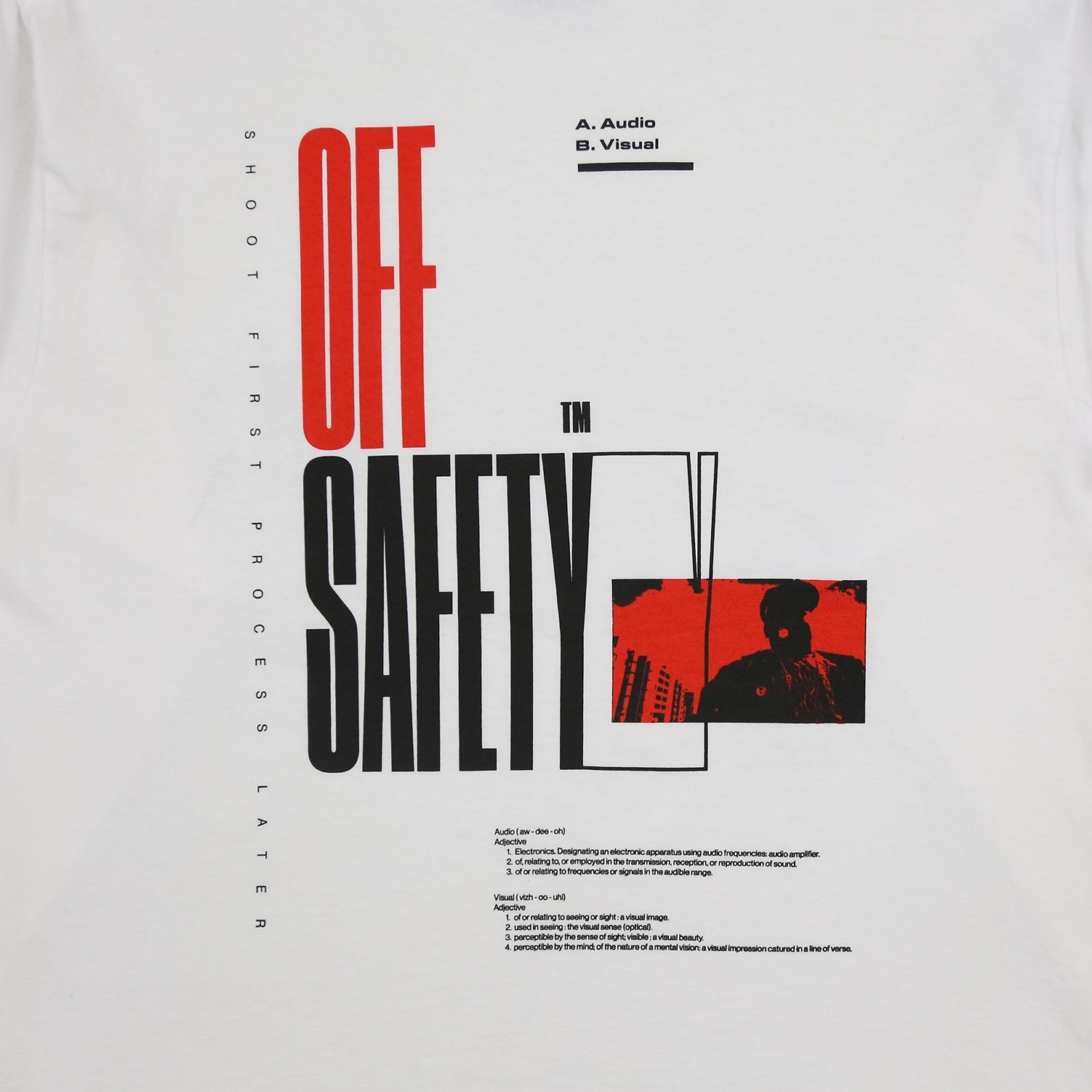 【OFF SAFETY/オフセーフティー】SKY'S THE LIMIT LS TEE 長袖Tシャツ / WHITE