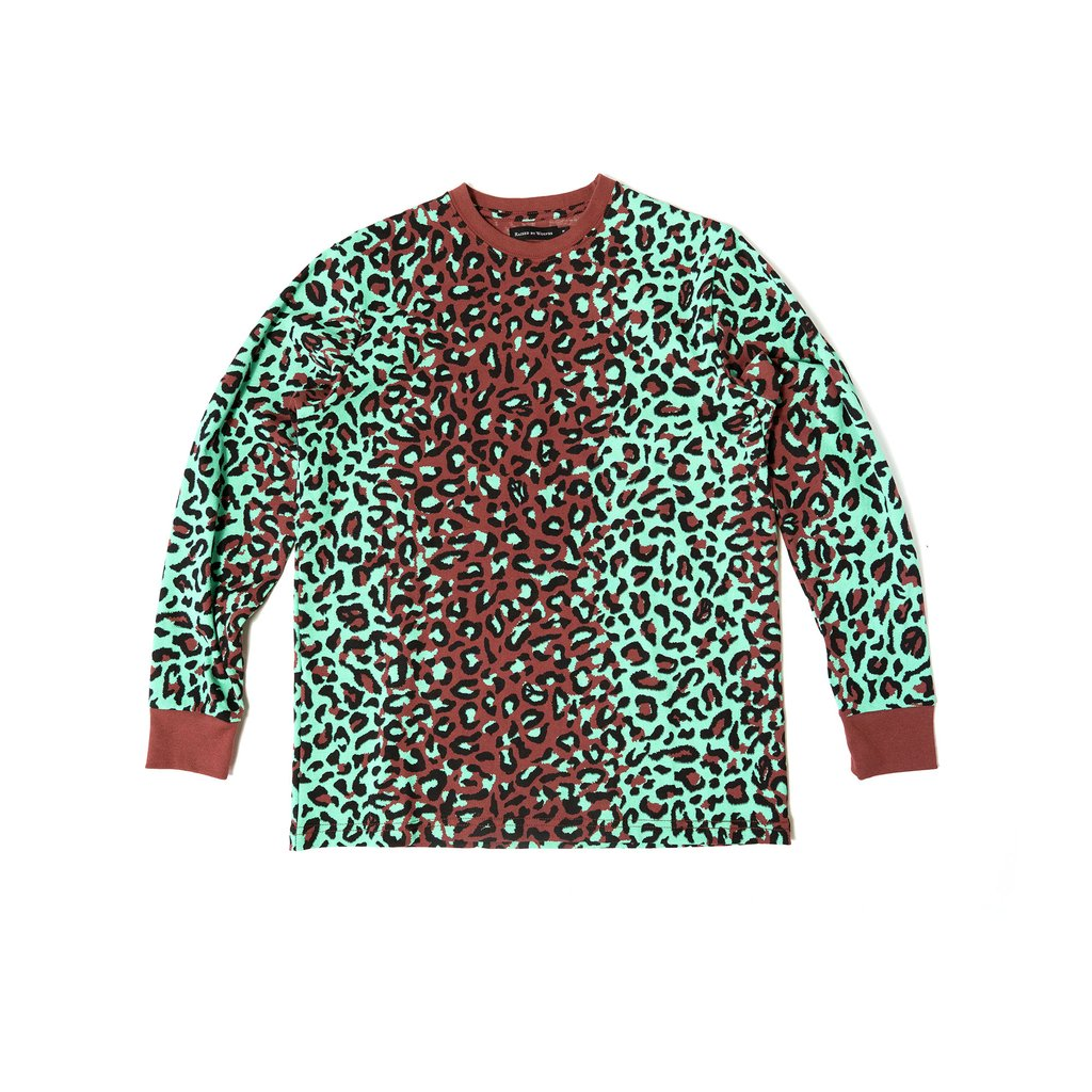 【RAISED BY WOLVES/レイズドバイウルブス】LEOPARD CAMO LONG SLEEVE TEE ロングTシャツ / LEOPARD CAMO