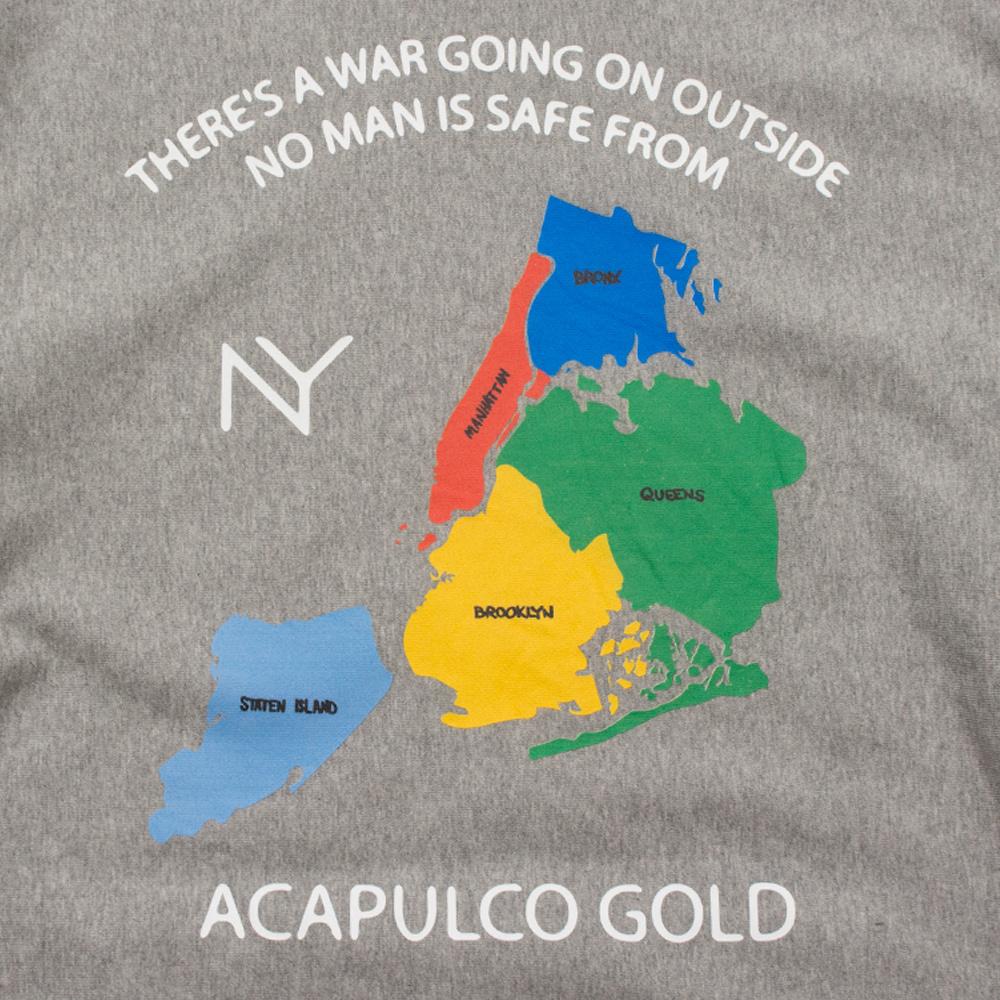 【ACAPULCO GOLD/アカプルコ ゴールド】SOUVENIR WAR PULLOVER HOODIE パーカー / HEATHER GREY