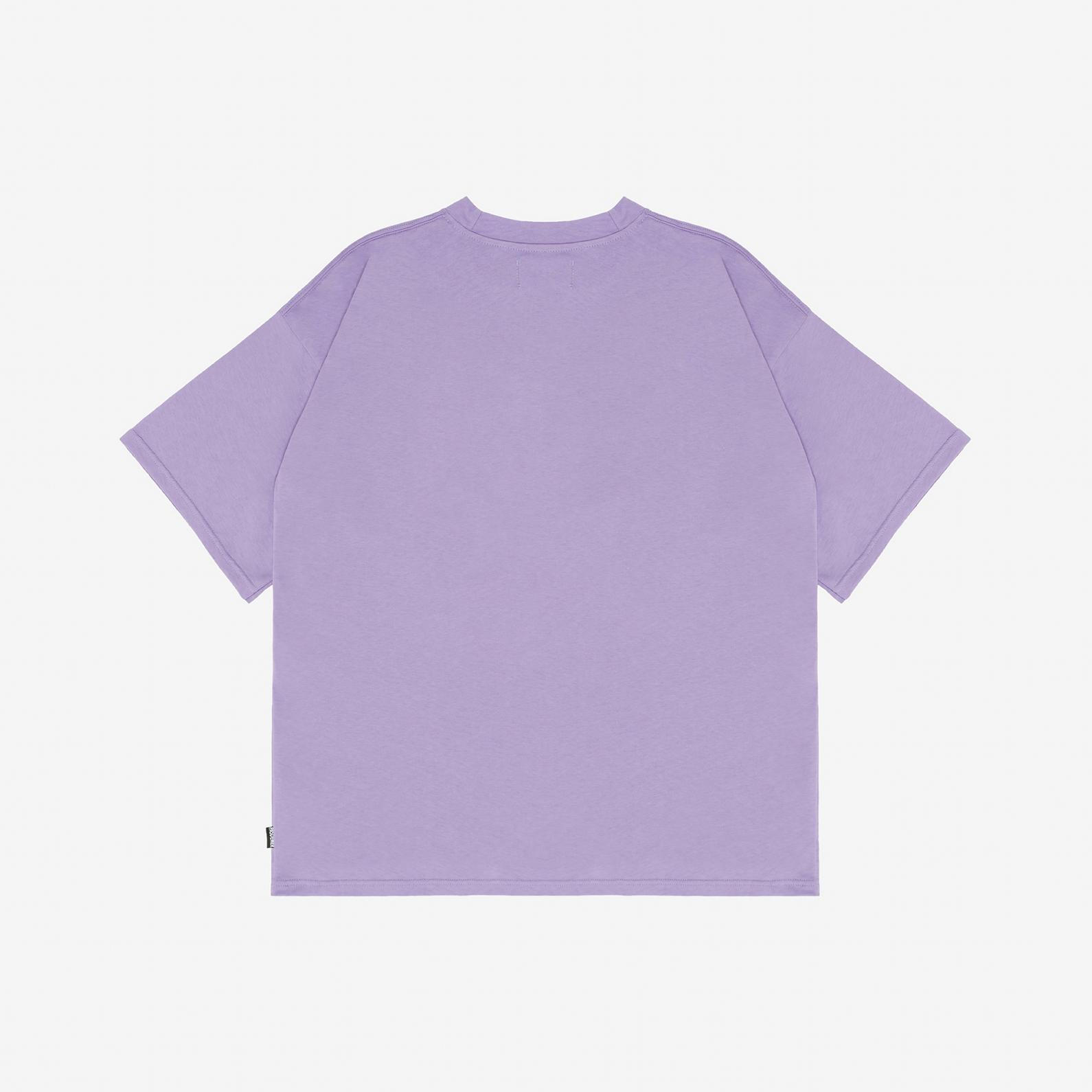 【PAS DE MER/パドゥメ】HIGH COUTURE T-SHIRT オーバーサイズTシャツ / LIGHT PURPLE