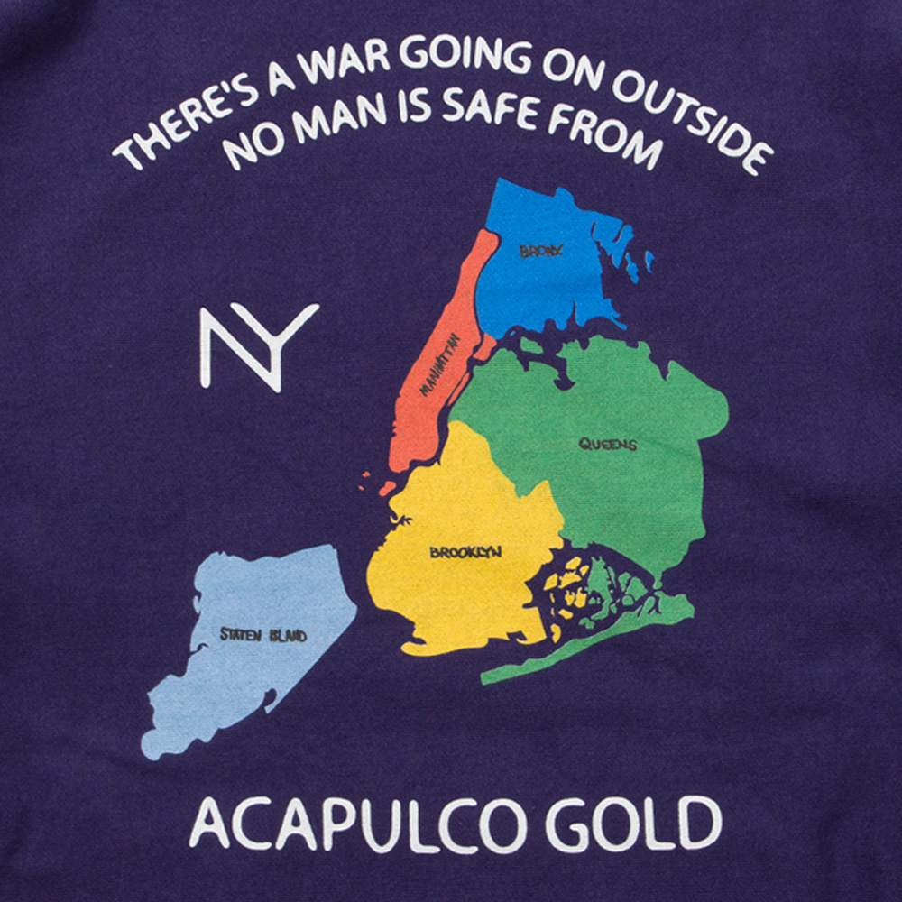 【ACAPULCO GOLD/アカプルコ ゴールド】SOUVENIR WAR PULLOVER HOODIE パーカー / NEW NAVY