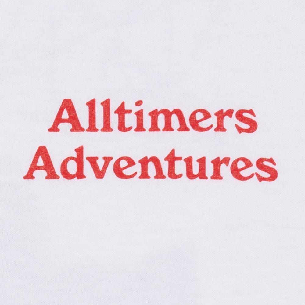 【ALLTIMERS/オールタイマーズ】ADVENTURES TEE Tシャツ / WHITE