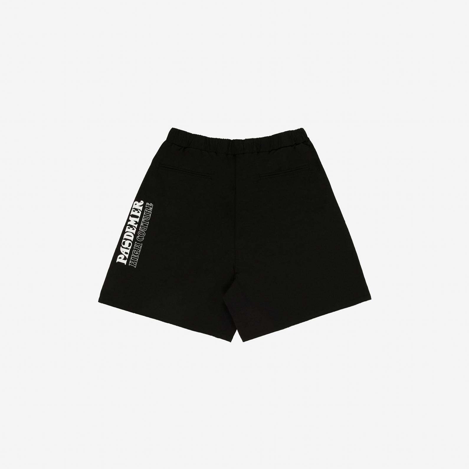 【PAS DE MER/パドゥメ】HIGH COUTURE SHORTS ショートパンツ / BLACK