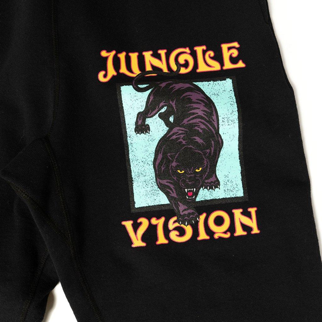 【RAISED BY WOLVES/レイズドバイウルブス】JUNGLE VISION SWEATPANTS スウェットパンツ / BLACK