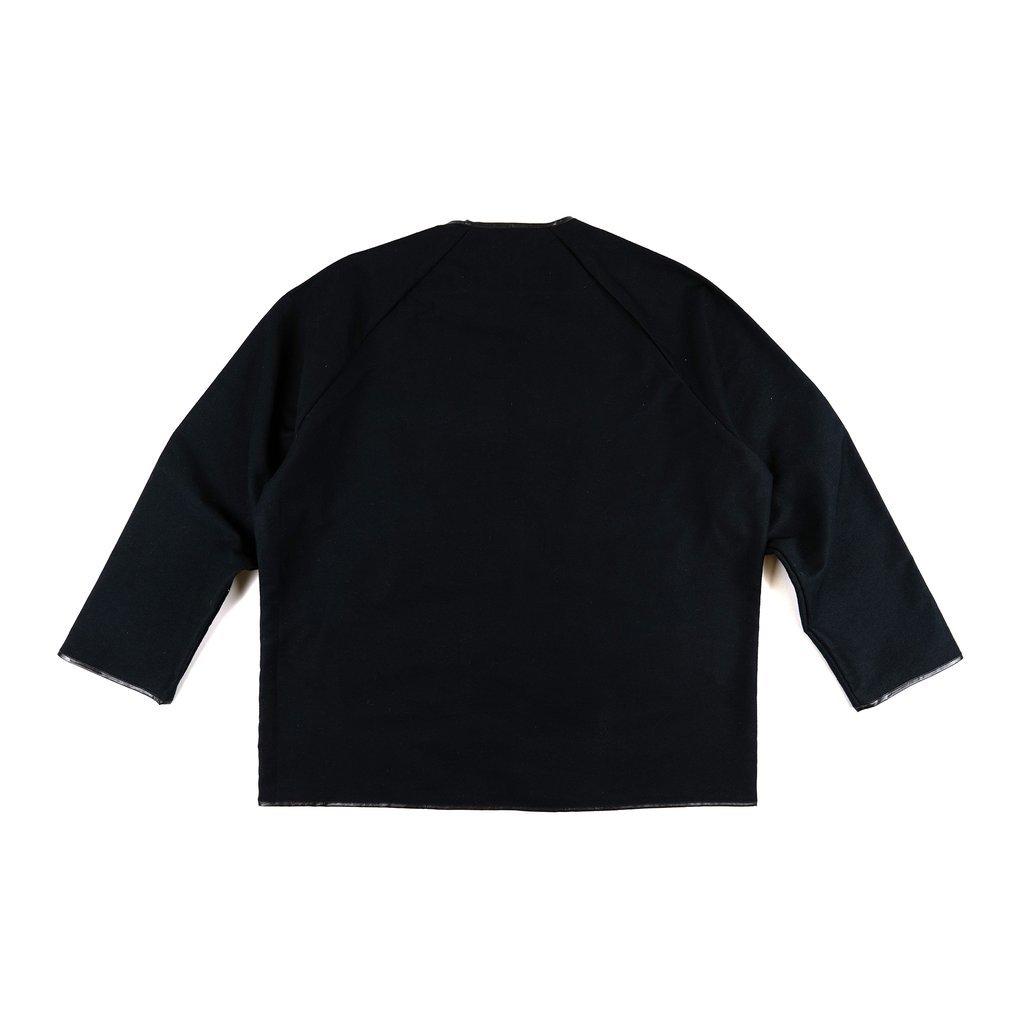 【RAISED BY WOLVES/レイズドバイウルブス】MOLESKIN UTILITY SHIRT ラグランシャツ / BLACK