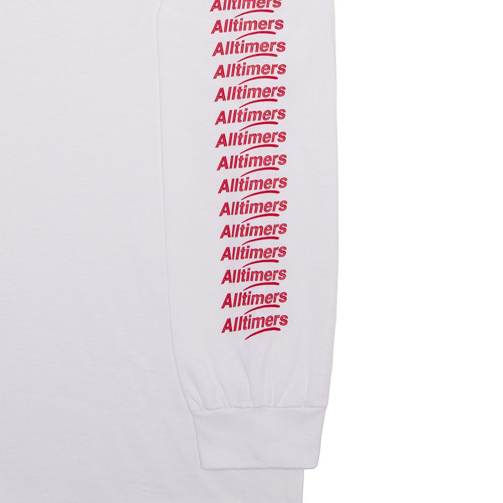 【ALLTIMERS/オールタイマーズ】COUNT IT UP LS TEE ロングTシャツ / WHITE