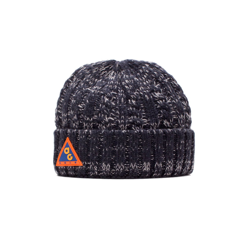 【ACAPULCO GOLD/アカプルコ ゴールド】AG ALL CONDITIONS CABLE HAT ニット帽 / MIX NAVY