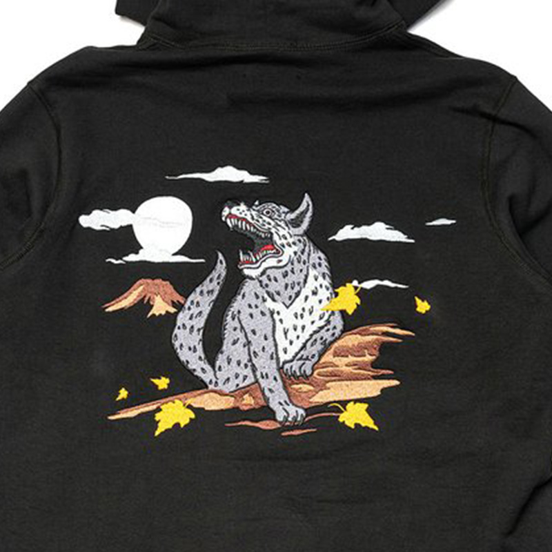【RAISED BY WOLVES/レイズドバイウルブス】SOUVENIR REDUX HOODED SWEATSHIRT バーカー / BLACK