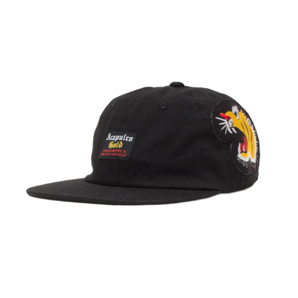 【ACAPULCO GOLD/アカプルコ ゴールド】SOUVENIR WAR 6 PANEL CAP ストラップバックキャップ / BLACK