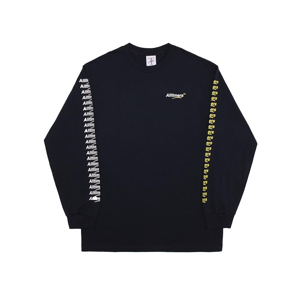 【ALLTIMERS/オールタイマーズ】COUNT IT UP LS TEE ロングTシャツ / NAVY