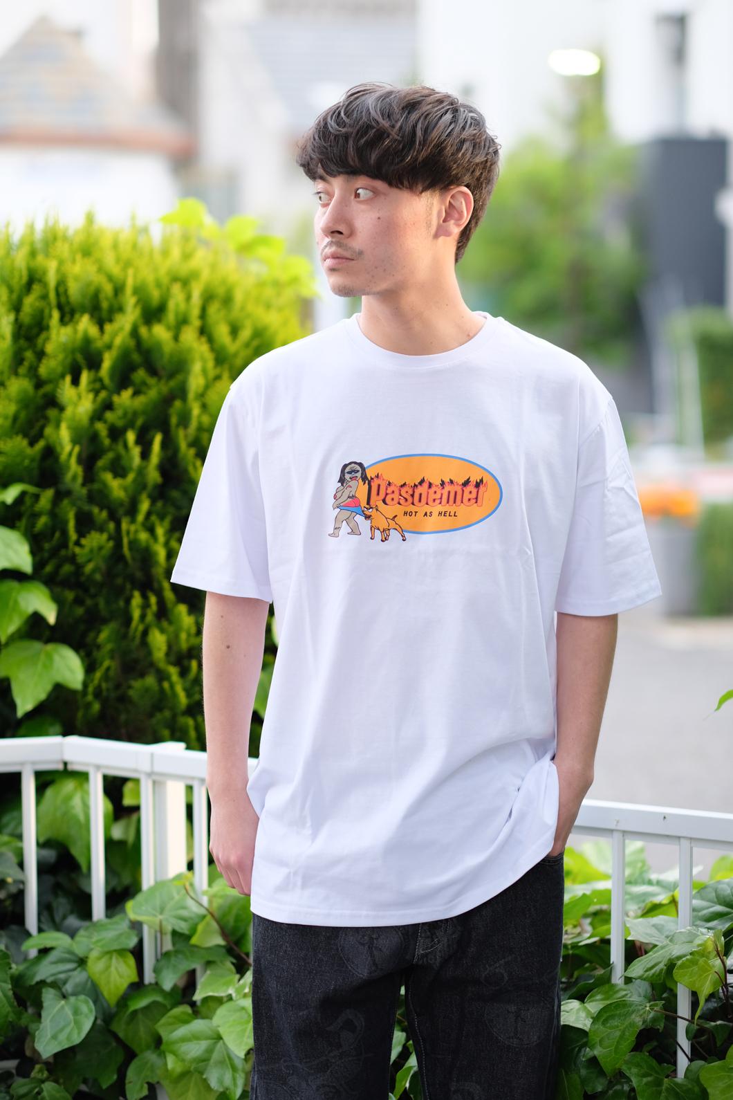 【PAS DE MER/パドゥメ】HOT AS HELL T-SHIRT Tシャツ / WHITE