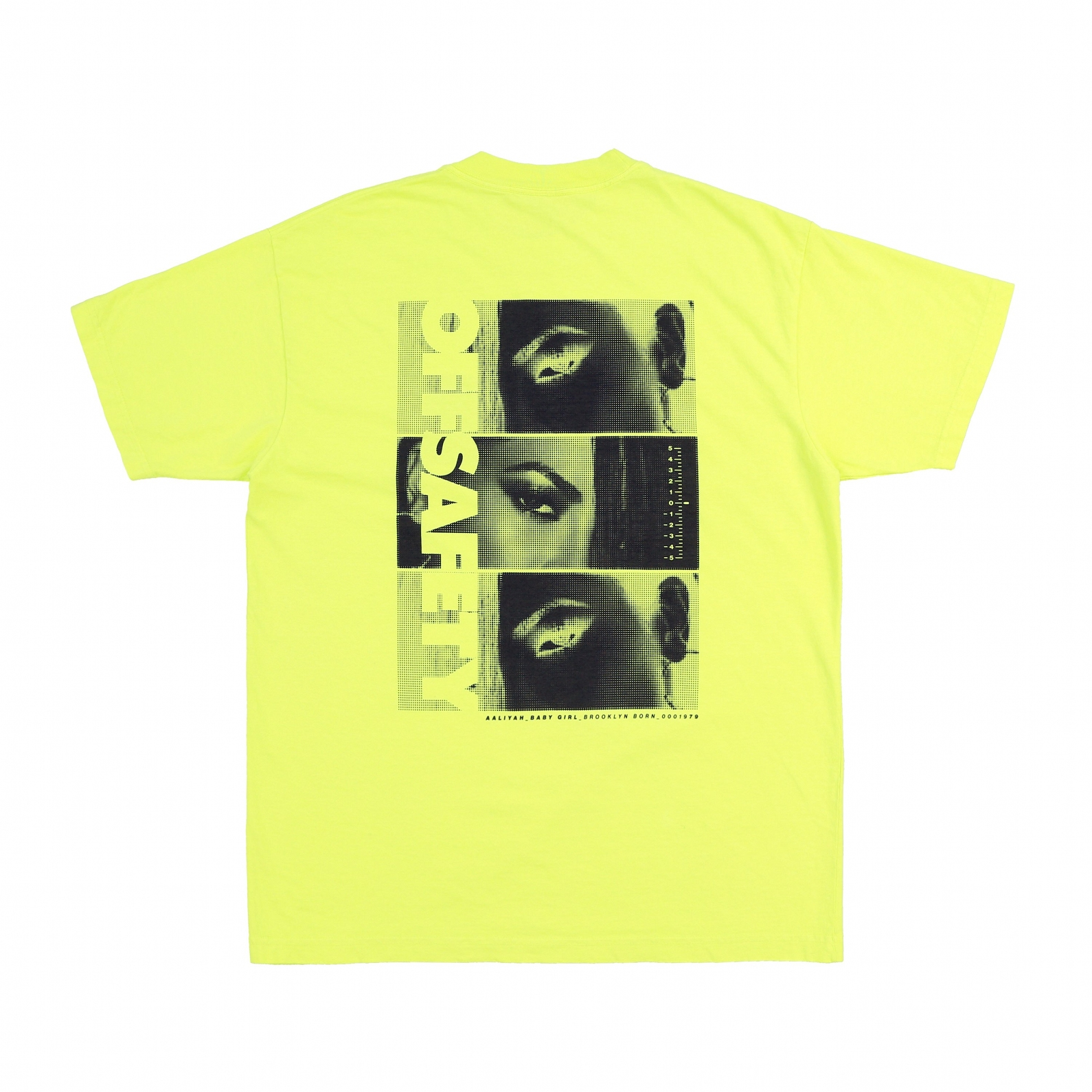 【OFF SAFETY/オフセーフティー】AALIYAH EYES TEE Tシャツ / SAFETY YELLOW