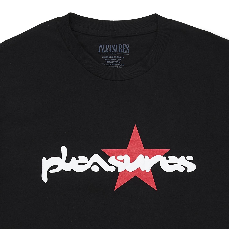 【PLEASURES/プレジャーズ】VIBRATION T-SHIRT Tシャツ / BLACK