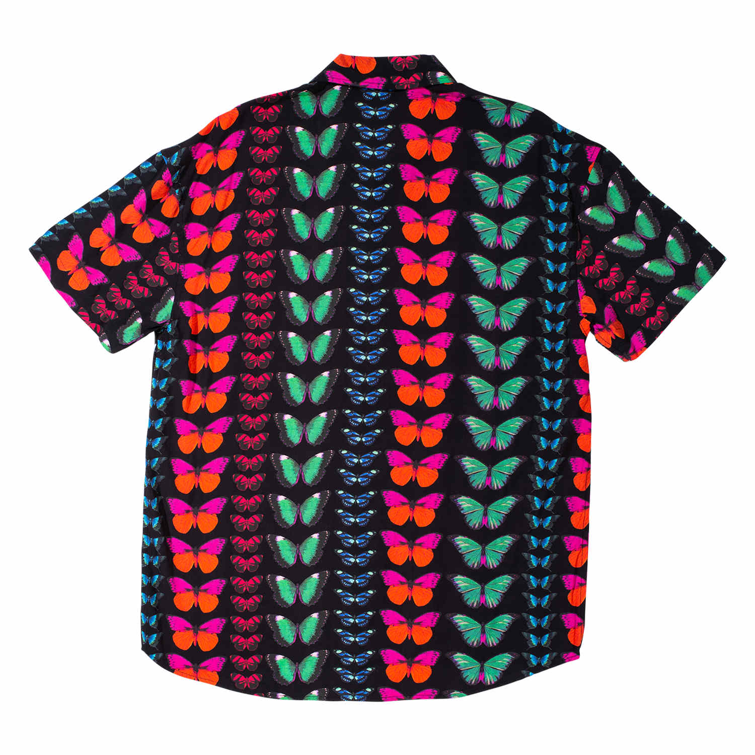 【PLEASURES/プレジャーズ】BUTTERFLY SHORT SLEEVE BUTTON UP 半袖シャツ / BLACK
