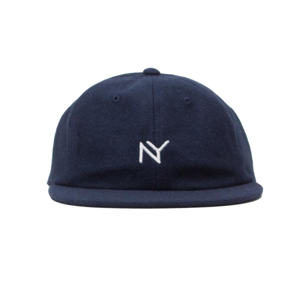 【ACAPULCO GOLD/アカプルコ ゴールド】NY 6 PANEL WOOL CAP  ストラップバックキャップ / NAVY