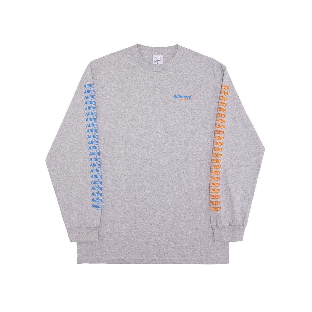 【ALLTIMERS/オールタイマーズ】COUNT IT UP LS TEE ロングTシャツ / HEATHER GREY