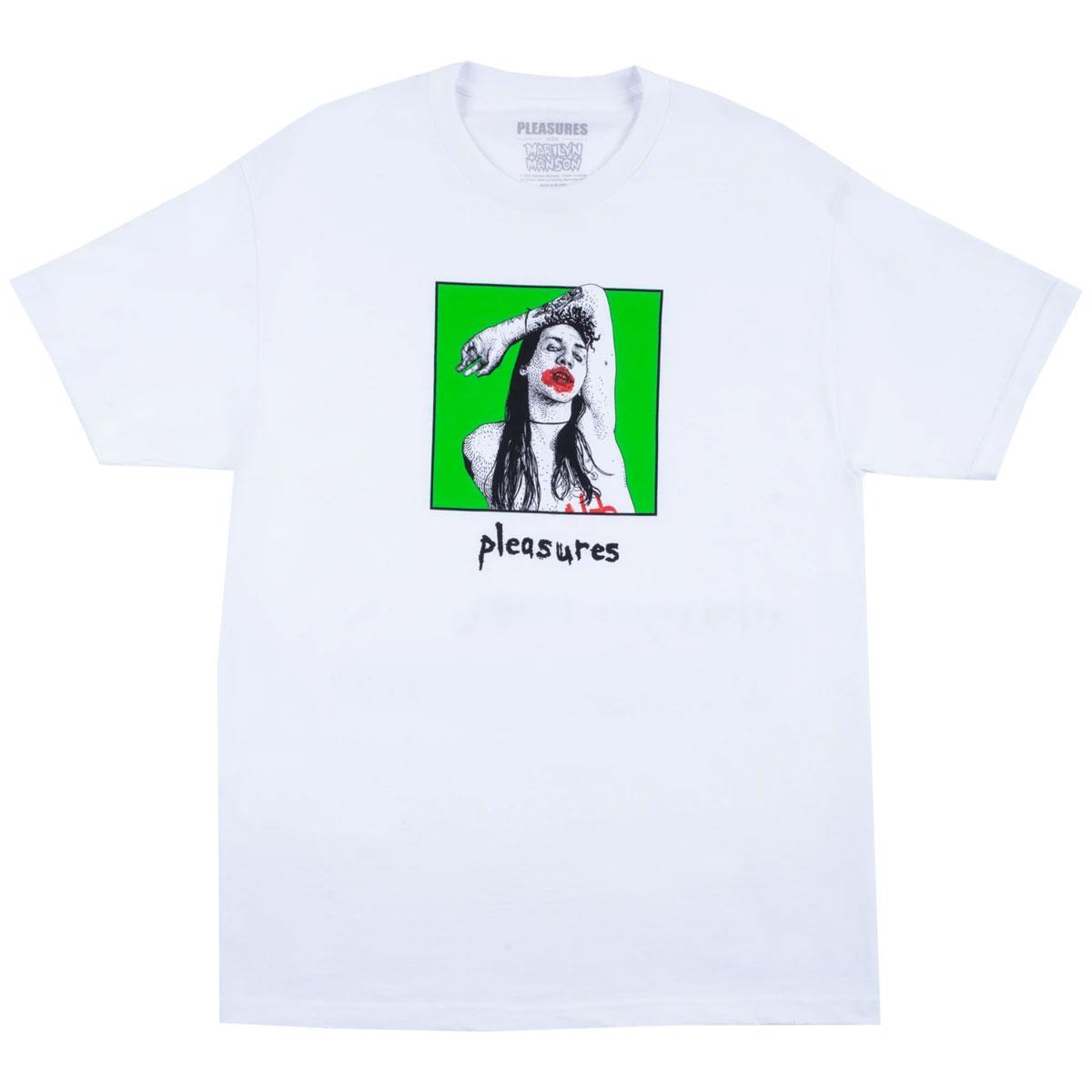 【PLEASURES/プレジャーズ×MARILYN MANSON/マリリン・マンソン】SUFFER T-SHIRT Tシャツ / WHITE