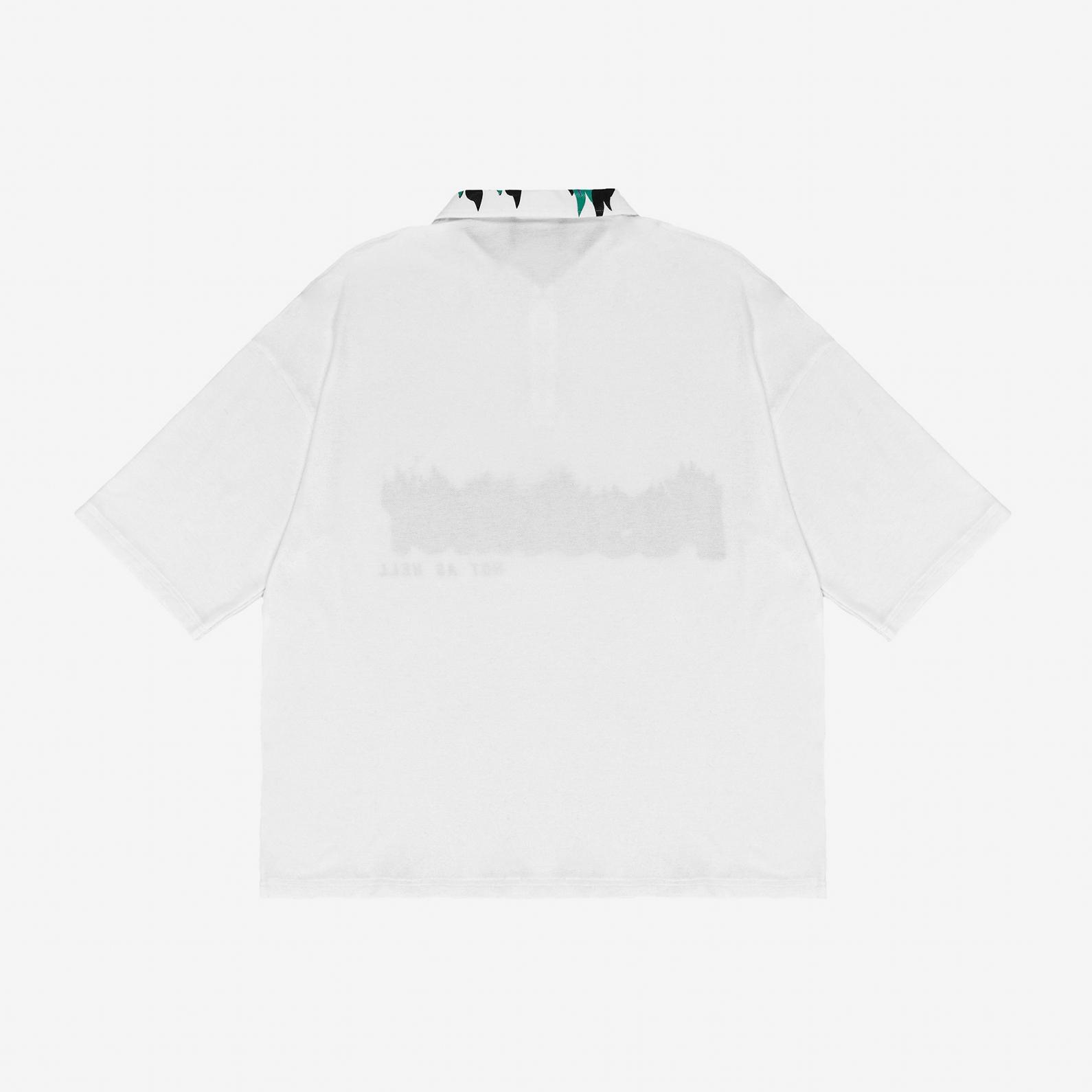 【PAS DE MER/パドゥメ】HOT AS HELL POLO オーバーサイズポロシャツ / WHITE