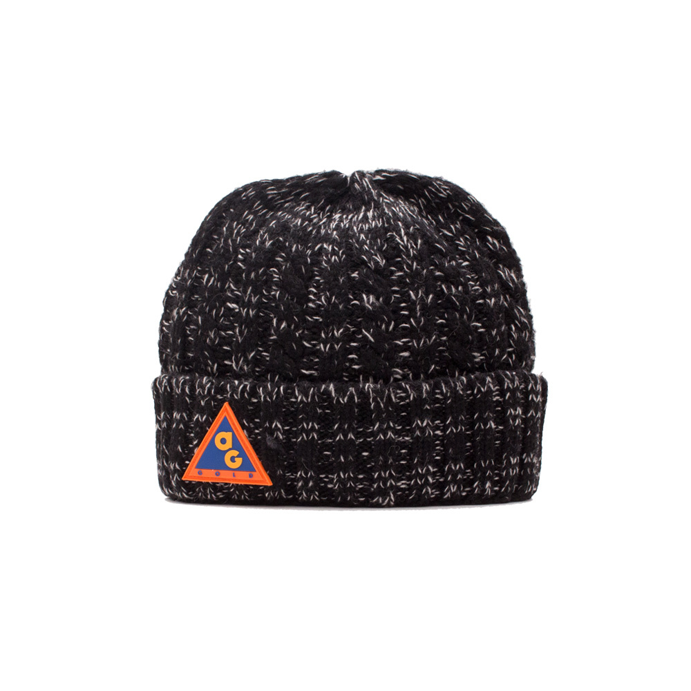 【ACAPULCO GOLD/アカプルコ ゴールド】AG ALL CONDITIONS CABLE HAT ニット帽 / MIX BLACK