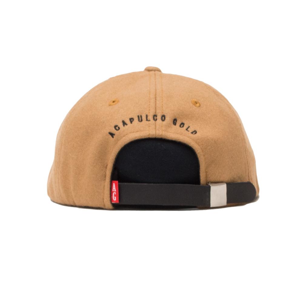 【ACAPULCO GOLD/アカプルコ ゴールド】NY 6 PANEL WOOL CAP  ストラップバックキャップ / CAMEL