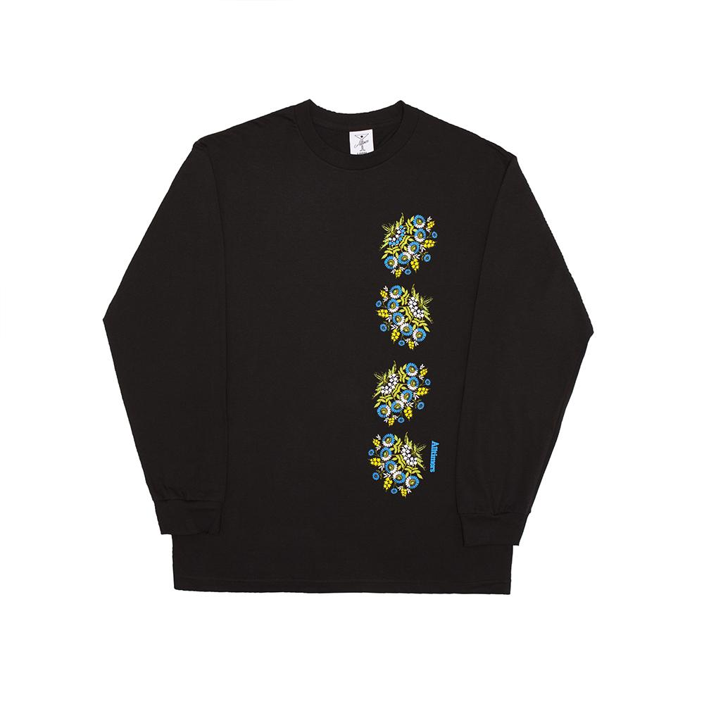 【ALLTIMERS/オールタイマーズ】NANAS PLATES LS TEE ロングTシャツ / BLACK