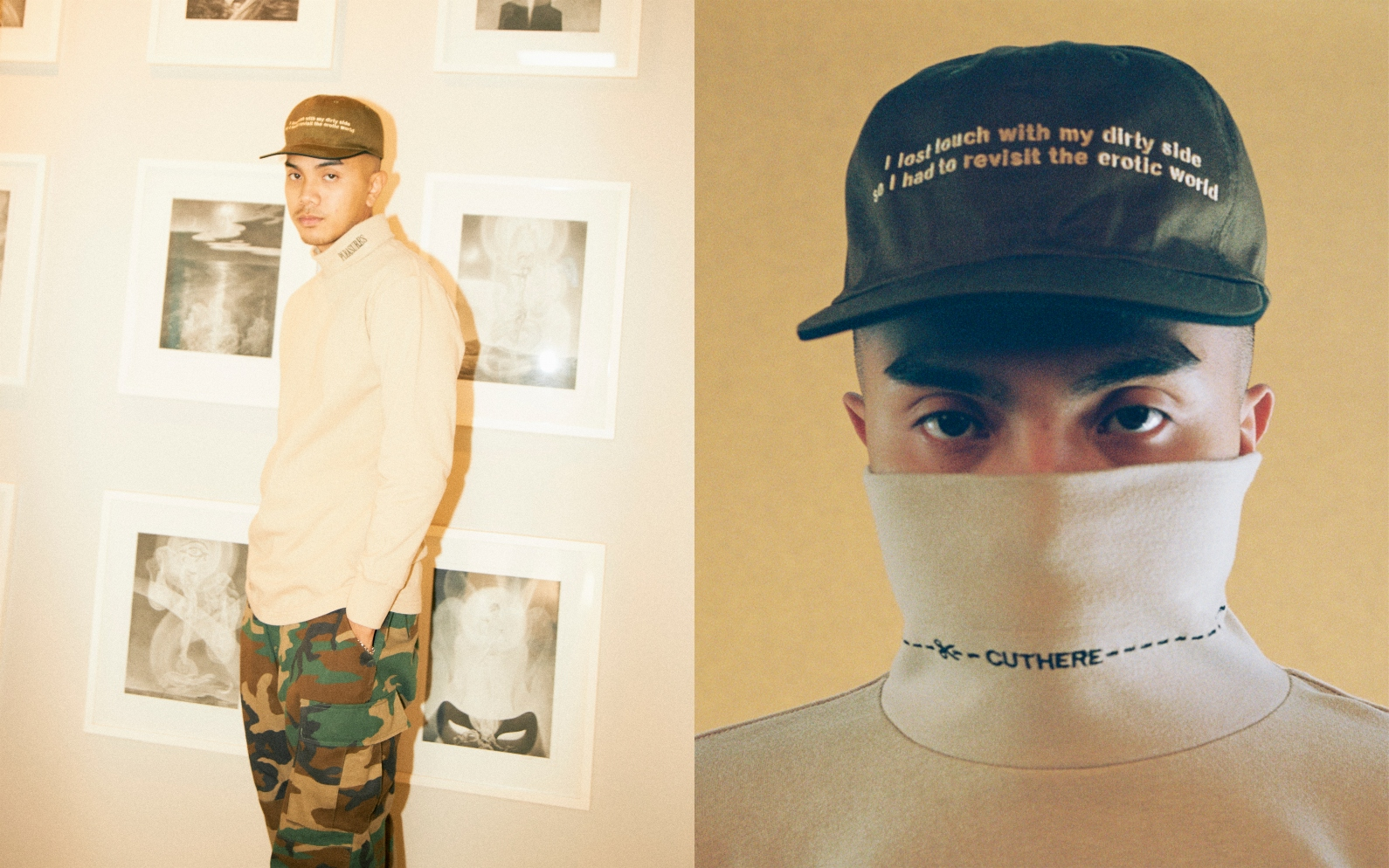 【PLEASURES/プレジャーズ】EROTIC REVERSABLE HAT リバーシブルキャップ / BLACK