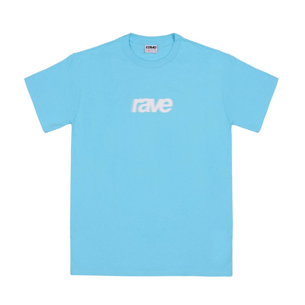 【RAVE SKATEBOARDS/レイブスケートボード】BLURRY LOGO TEE Tシャツ / SKY