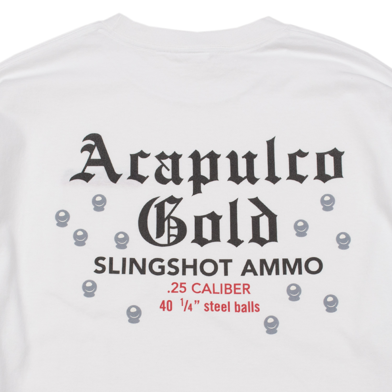 【ACAPULCO GOLD/アカプルコ ゴールド】SLINGSHOT POCKET TEE ロングTシャツ / WHITE