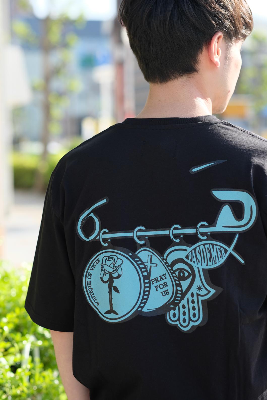 【PAS DE MER/パドゥメ】MEDALS T-SHIRT Tシャツ / BLACK